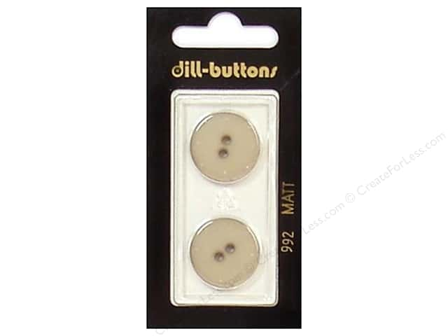 Dill 2 Hole Buttons 13/16 in. Beige #992 2pc.