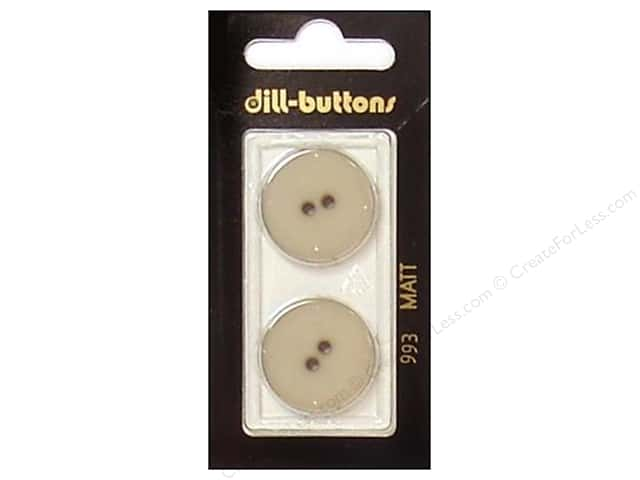Dill 2 Hole Buttons 7/8 in. Beige #993 2pc.