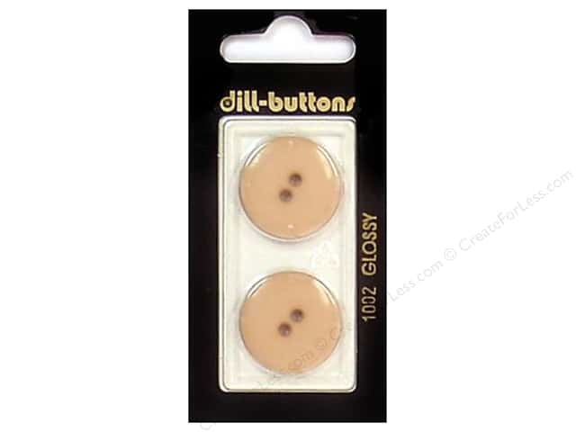 Dill 2 Hole Buttons 7/8 in. Brown #1002 2 pc.