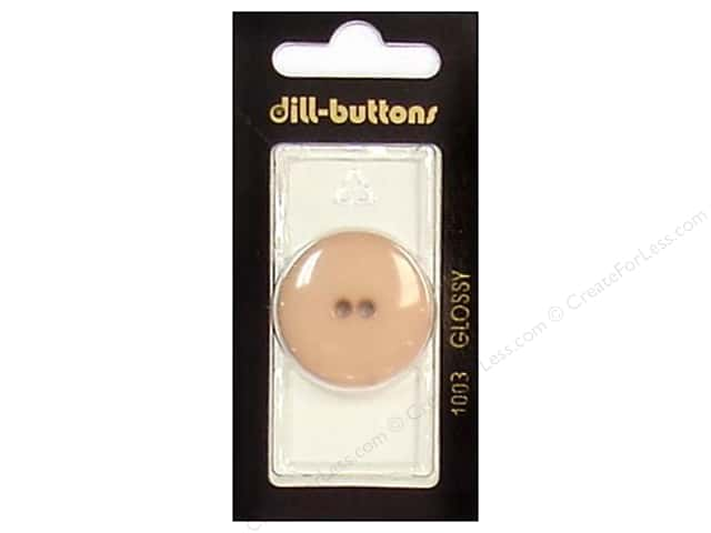 Dill 2 Hole Buttons 1 1/8 in. Brown #1003 1pc.