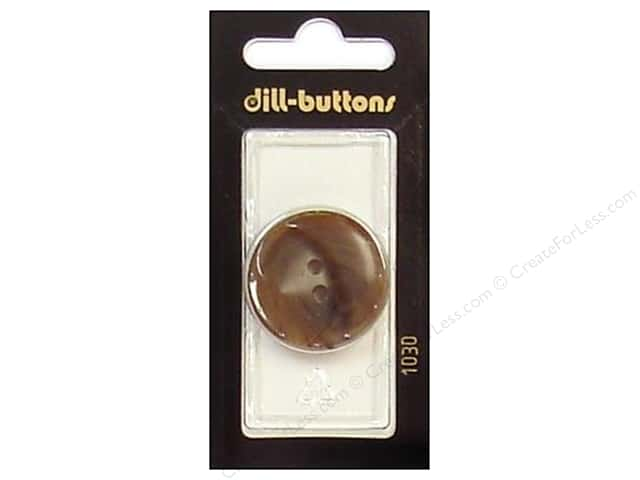 Dill 4 Hole Buttons 1 1/8 in. Brown #1030 1pc.