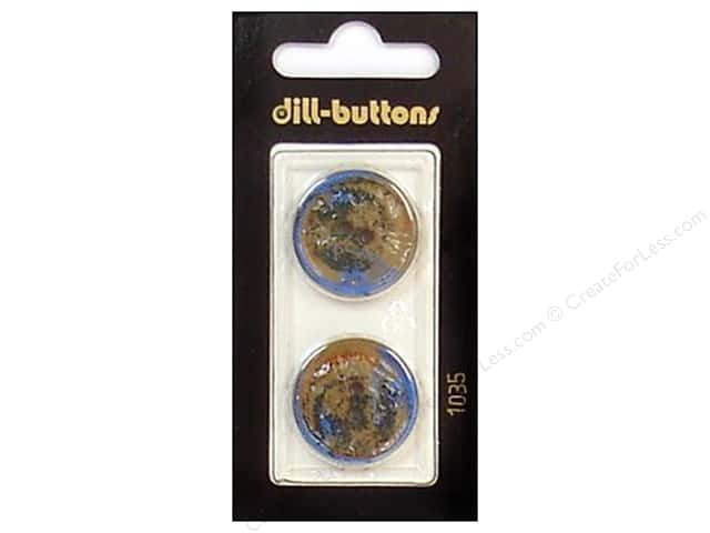 Dill 2 Hole Buttons 7/8 in. Brown #1035 2pc.