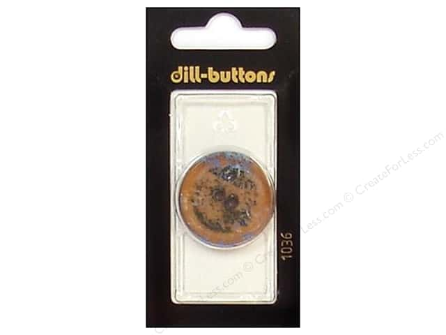 Dill 2 Hole Buttons 1 1/8 in. Brown #1036 1pc.