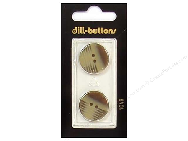 Dill 2 Hole Buttons 13/16 in. Brown #1048 2pc.