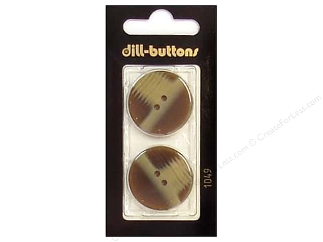 Dill 2 Hole Buttons 1 in. Brown #1049 2pc.