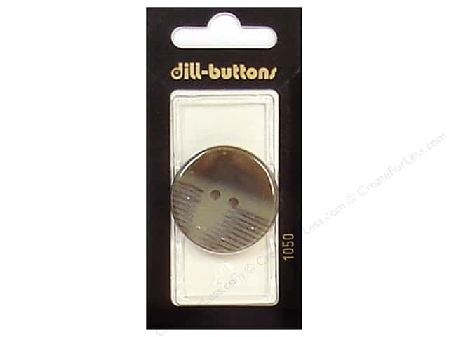 Dill 2 Hole Buttons 1 1/4 in. Brown #1050 1pc.