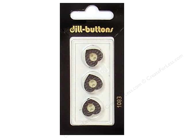 Dill 2 Hole Buttons 1/2 in. Brown #1083 3 pc.