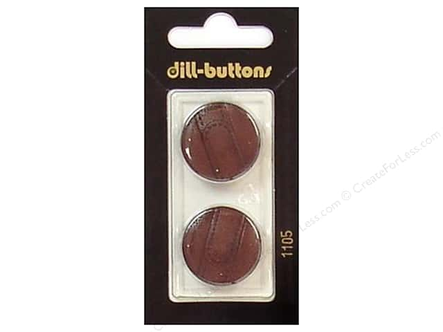 Dill Shank Buttons 7/8 in. Brown #1105 2pc.