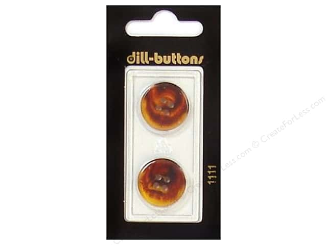 Dill 4 Hole Buttons 3/4 in. Brown #1111 2pc.