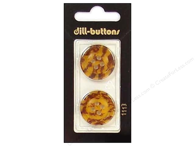 Dill 4 Hole Buttons 7/8 in. Brown #1113 2pc.