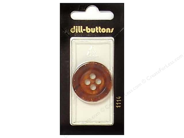 Dill 4 Hole Buttons 1 1/8 in. Brown #1114 1pc.