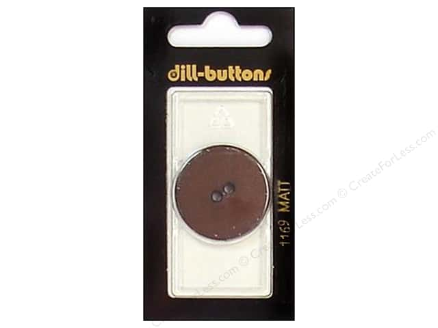 Dill 2 Hole Buttons 1 1/8 in. Brown #1169 1pc.