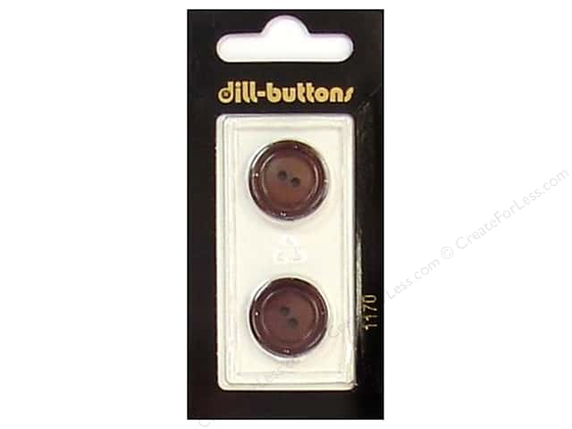 Dill 2 Hole Buttons 11/16 in. Brown #1170 2pc.