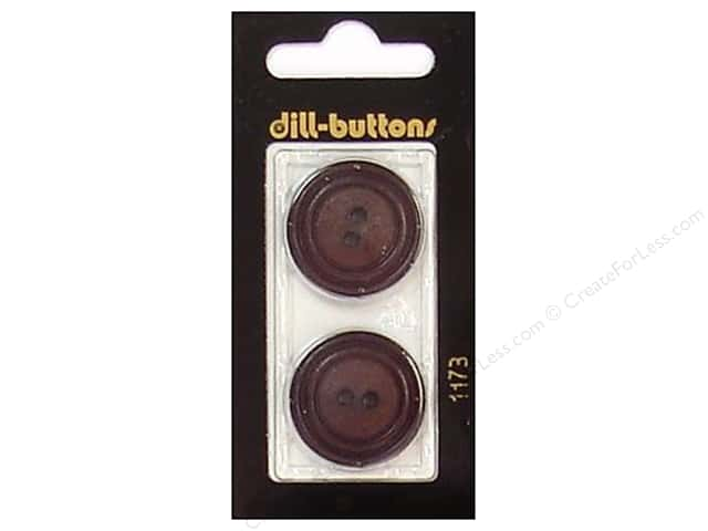 Dill 2 Hole Buttons 1 in. Brown #1173 2pc.