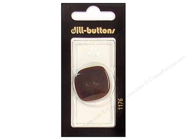 Dill 2 Hole Buttons 1 1/8 in. Brown #1176 1pc.