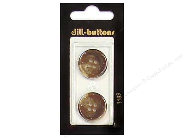 Dill 4 Hole Buttons 13/16 in. Brown #1189 2pc.