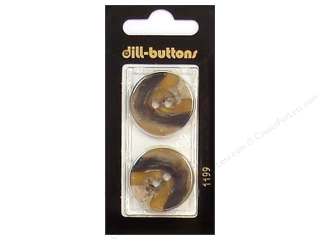 Dill 2 Hole Buttons 1 in. Brown #1199 2pc.