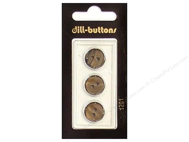 Dill 2 Hole Buttons 9/16 in. Brown #12013pc.