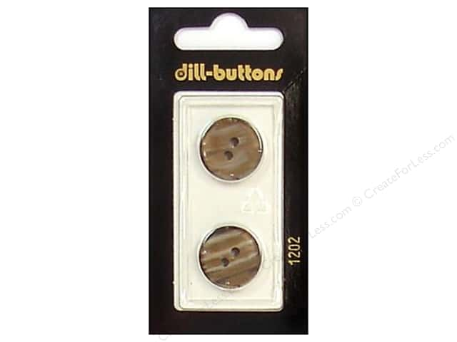 Dill 2 Hole Buttons 11/16 in. Brown #1202 2pc.