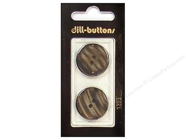 Dill 2 Hole Buttons 7/8 in. Brown #1203 2 pc.
