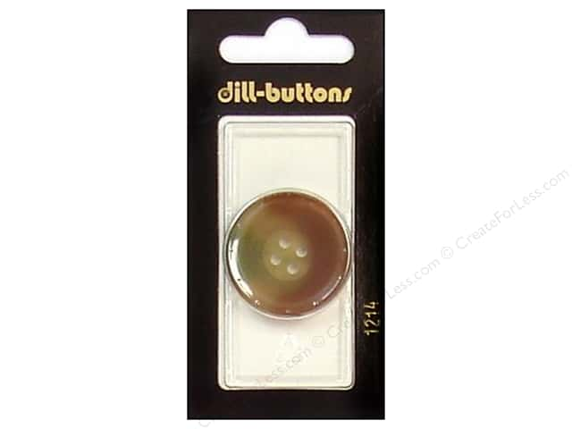 Dill 4 Hole Buttons 1 1/8 in. Brown #1214 1pc.