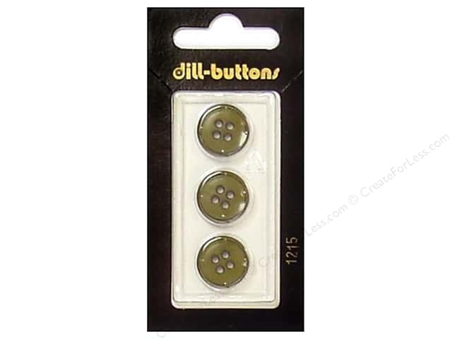Dill 4 Hole Buttons 5/8 in. Olive #1215 3pc.