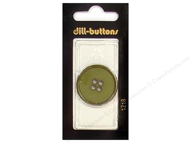 Dill 4 Hole Buttons 1 1/8 in. Olive #1218 1 pc.
