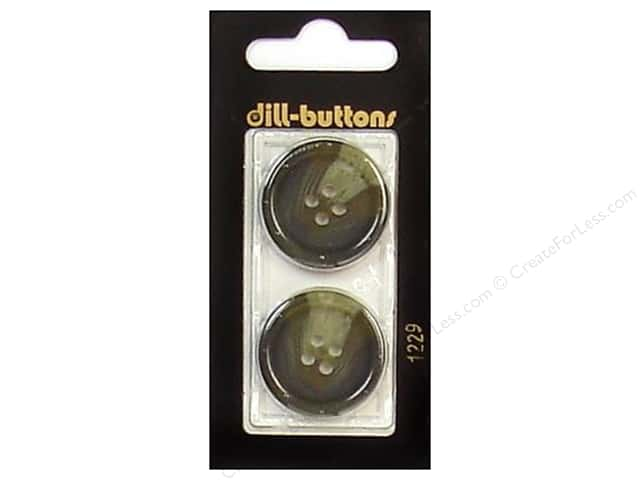 Dill 4 Hole Buttons 1 in. Olive #1229 2pc.