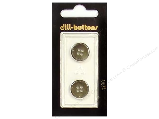 Dill 4 Hole Buttons 5/8 in. Olive #1230 2 pc.