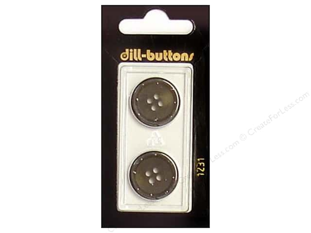 Dill 4 Hole Buttons 13/16 in. Olive #1231 2pc.