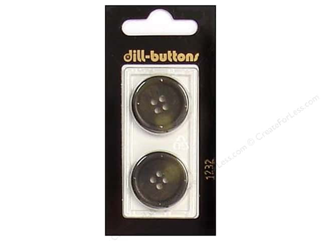 Dill 4 Hole Buttons 7/8 in. Olive #1232 2pc.