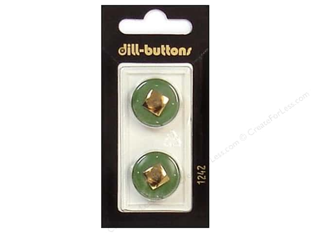 Dill Shank Buttons 13/16 in. Green/Gold #1242 2pc.