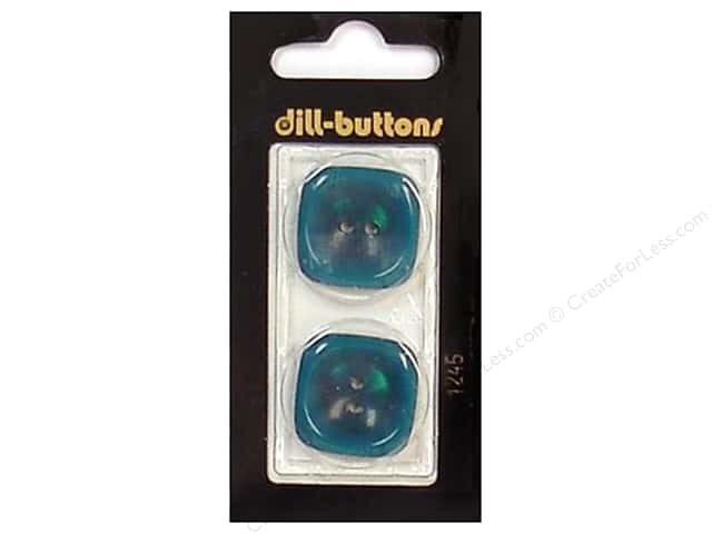 Dill 2 Hole Buttons 1 in. Teal #1245 2pc.