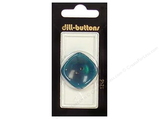 Dill 2 Hole Buttons 1 1/4 in. Teal #1246 1pc.