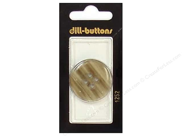 Dill 4 Hole Buttons 1 1/4 in. Khaki #1252 1 pc.