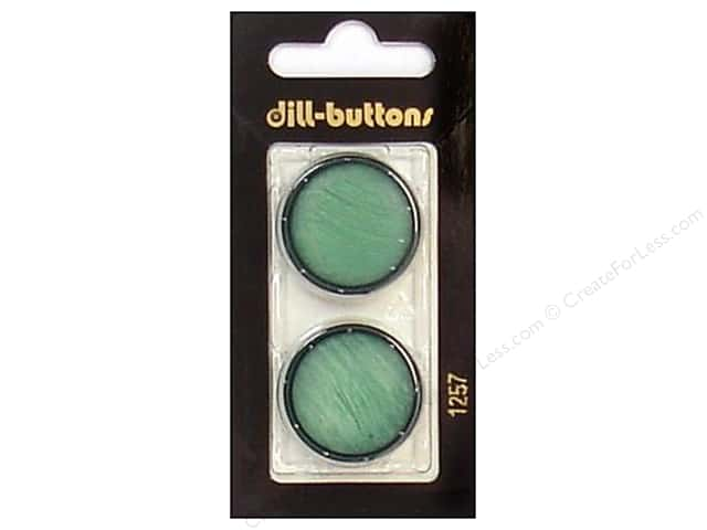 Dill Shank Buttons 1 in. Dark Green #1257 2pc.