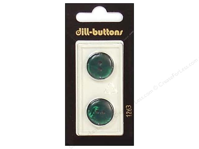 Dill 2 Hole Buttons 11/16 in. Dark Green #1263 2pc.