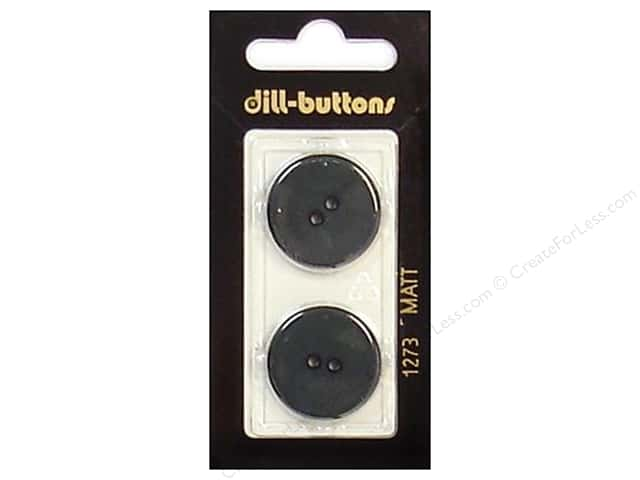 Dill 2 Hole Buttons 7/8 in. Dark Green #1273 2pc.