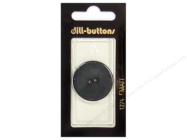 Dill 2 Hole Buttons 1 1/8 in. Dark Green #1274 1pc.