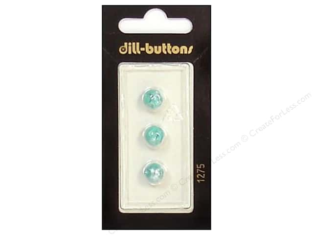 Dill Shank Buttons 5/16 in. Pearlized Turquoise #1275 3pc.