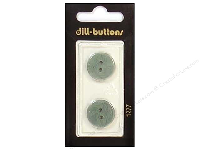 Dill 2 Hole Buttons 11/16 in. Green #1277 2 pc.