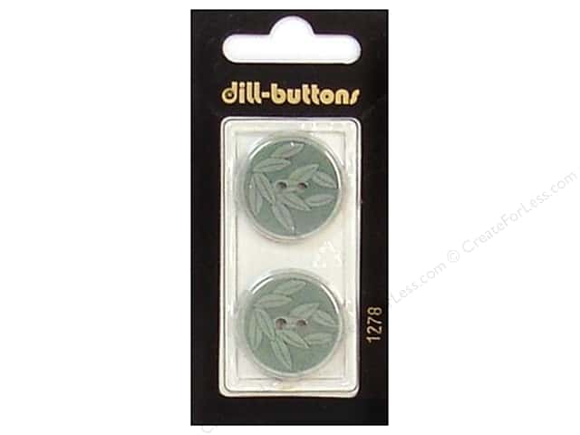 Dill 2 Hole Buttons 7/8 in. Green #1278 2pc.