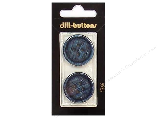Dill 4 Hole Buttons 1 in. Navy #1366 2pc.