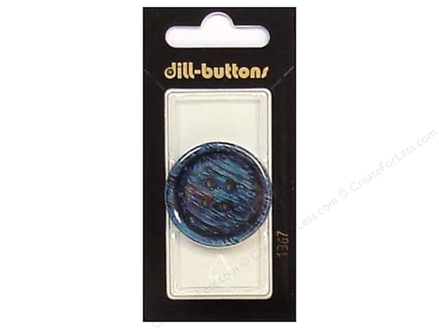 Dill 4 Hole Buttons 1 1/4 in. Navy #1367 1pc.