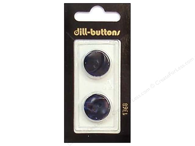 Dill 2 Hole  Buttons 11/16 in. Navy #1368 2 pc.