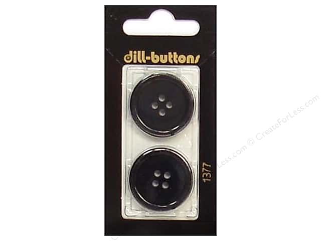 Dill 4 Hole Buttons 1 in. Navy #1377 2pc.