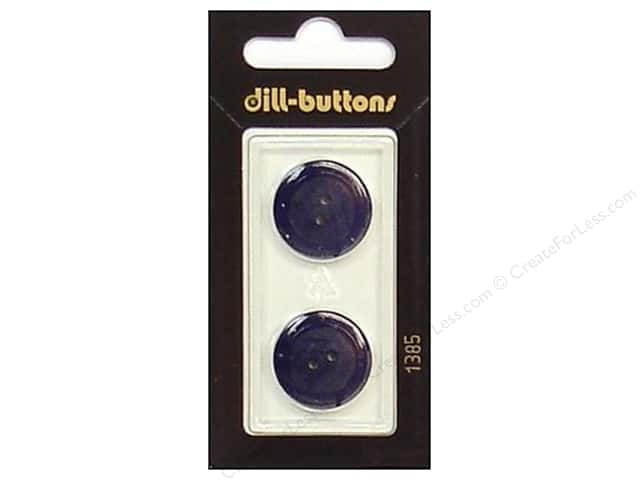 Dill 2 Hole Buttons 13/16 in. Navy #1385 2pc.
