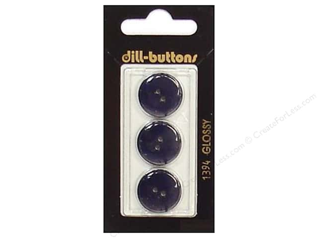 Dill 2 Hole Buttons 11/16 in. Navy #1394 3pc.