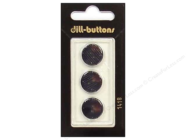 Dill 2 Hole Buttons 5/8 in. Navy #1418 3pc.