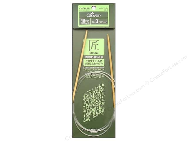 Clover Bamboo Circular Knitting Needles 48 in Size 3 (3.25 mm)